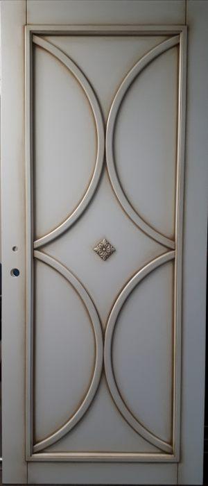 Межкомнатная дверь в профиле массив (эмаль с патиной) Барнаул