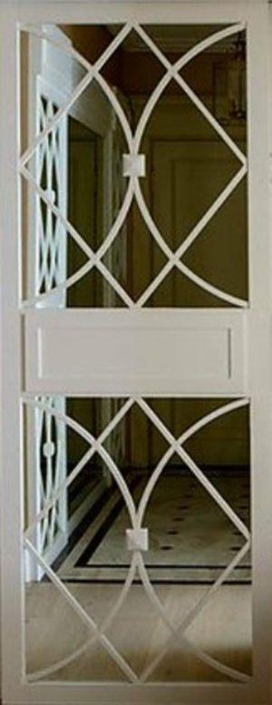 Вставка с фигурной филенкой на зеркале эмаль Барнаул